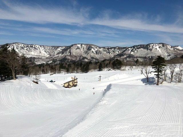 会津高原南郷スキー場のハーフパイプ
