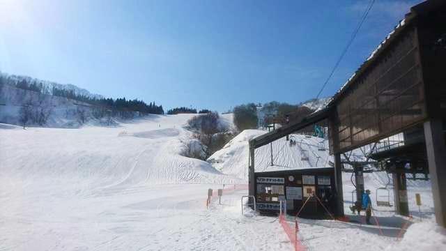 小国町横根スキー場のハーフパイプ