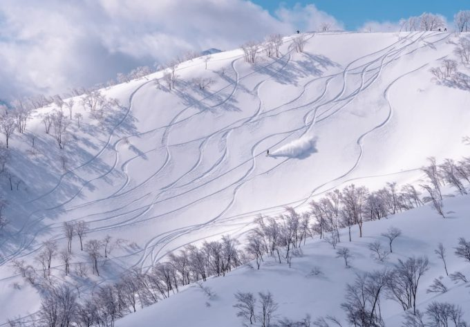 ロッテアライリゾートの非圧雪ゾーン