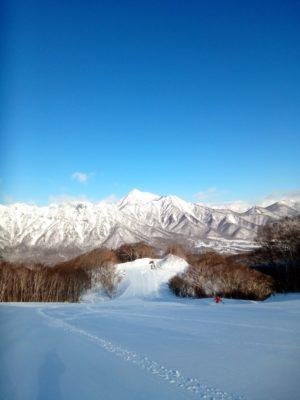 戸隠スキー場からの景色