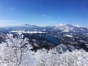 斑尾高原スキー場の頂上からの絶景