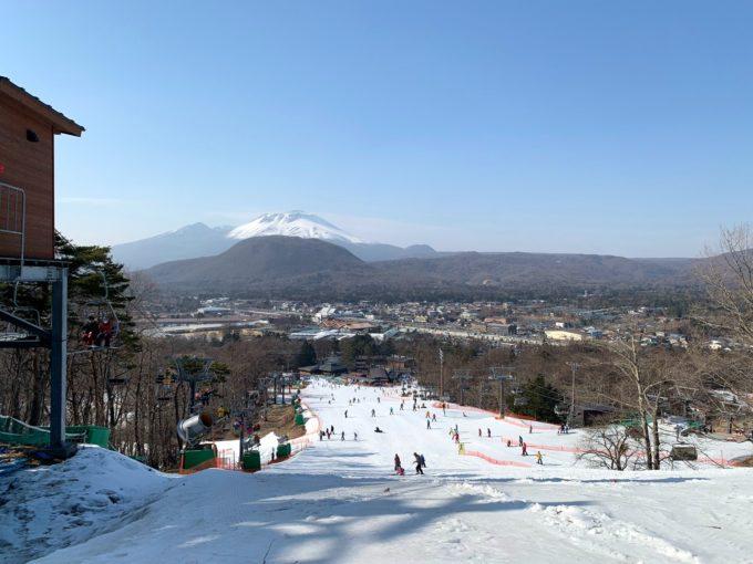 軽井沢プリンスホテルスキー場の全景