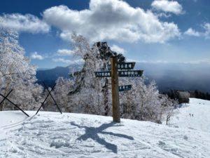きそふくしまスキー場から見える山々